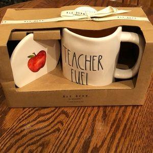 NWT! Rae Dunn teacher mug/coaster set